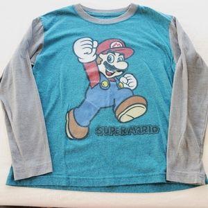 *2/$15* Super Mario boys long sleeve tee S 8/10